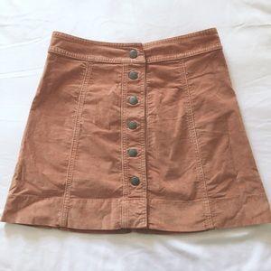 Madewell front button skirt